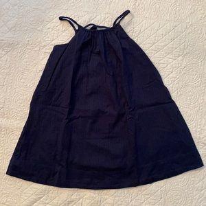 Baby Gap Navy Blue Spaghetti Strap Dress